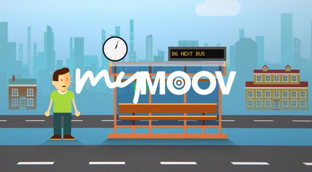 Motion design promotionnel de l'outil innovant d'informations voyageurs MyMoov